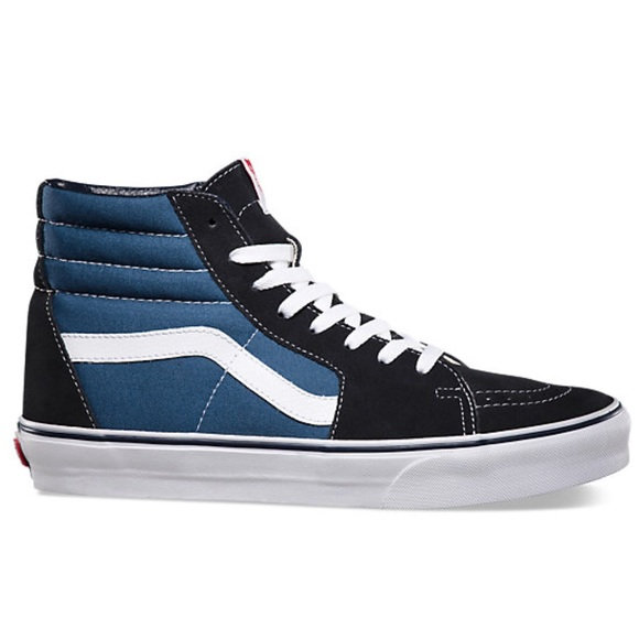 Vans Shoes | Black And Blue High Top